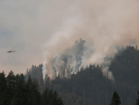 Handout photo of fire supression at Happy Camp Complex fire in the Klamath National Forest