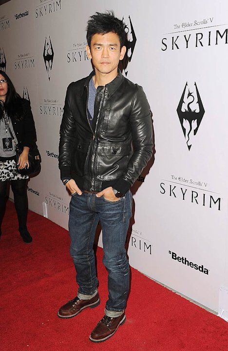 John Cho Elder ScrollsV Skyrim Launch Party