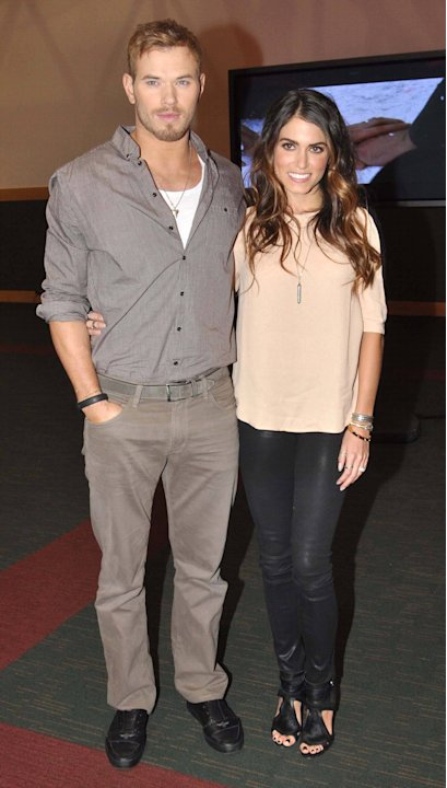 Kellan Lutz and Nikki Reed  'Twilight' stars Kellan Lutz and Nikki Reed attend a signing session at The Dublin Convention Centre to promote the Twilight Saga: Breaking Dawn - Part 2 Dublin, Ireland -