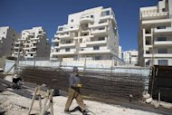 A housing construction site in the Israeli settlement of Har Homa is pictured in east Jerusalem on February 27, 2013