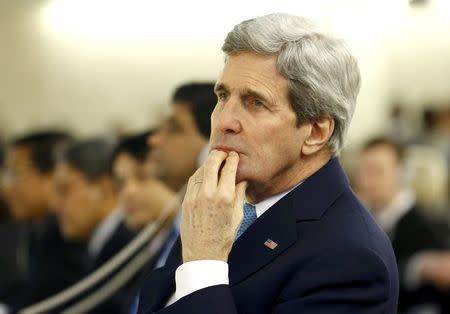 U.S. Secretary of State Kerry attends Human Rights Council at UN in Geneva