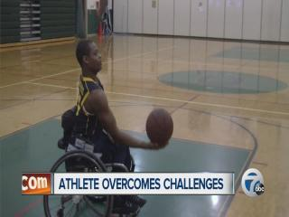 Athlete overcomes challenges
