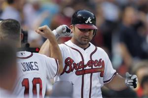 Tim Hudson, Braves shut out Padres, 6-0