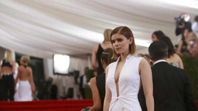 "U.S. actress Kate Mara arrives for the Metropolitan Museum of Art Costume Institute Gala 2015 celebrating the opening of ""China: Through the Looking Glass,"" in Manhattan"
