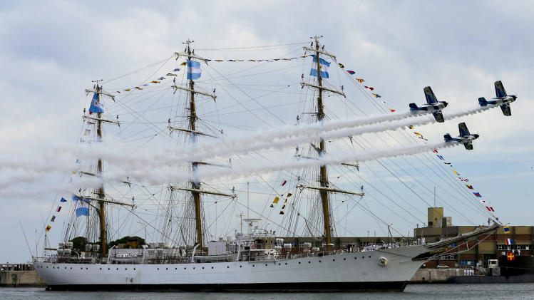 Seized Argentine navy ship arrives back home