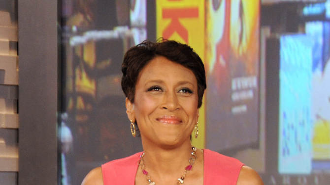 "FILE - This Aug. 20, 2012 file photo released by ABC shows co-host Robin Roberts during a broadcast of ""Good Morning America,"" in New York. Roberts has said goodbye to ""Good Morning America,"" but only for a while. The ""GMA"" anchor made her final appearance Thursday, Aug. 30, before going on medical leave for a bone marrow transplant. Roberts' departure was first planned for Friday, but she chose to exit a day early to visit her ailing mother in Mississippi. In July she first disclosed that she has MDS, a blood and bone marrow disease. She will be hospitalized next week to prepare for the transplant. The donor will be her older sister, Sally-Ann Roberts, who was on hand for Thursday's emotional send-off. (AP Photo/ABC, Donna Svennevik, file)"