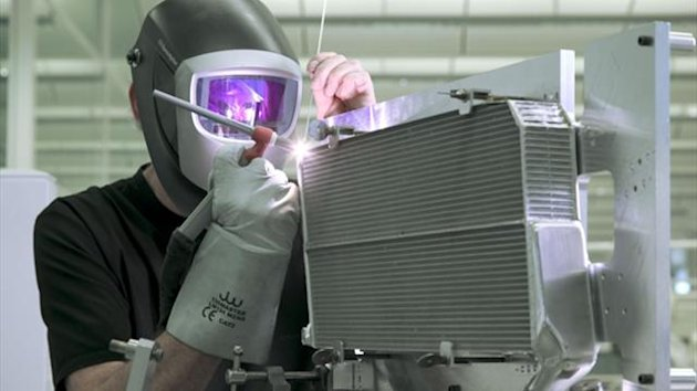 Fabricator working at the McLaren Technology Centre