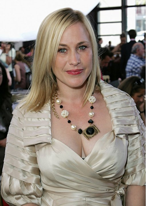 Patricia Arquette attends Christian Lacroix '09  Autumn-Winter Haute Couture fashion show at the Pompidou Center on July 1, 2008 in Paris, France.