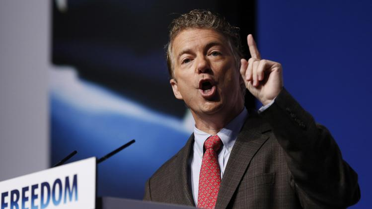 "U.S. Sen. Rand Paul speaks during the second day of the fifth annual Faith & Freedom Coalition's ""Road to Majority"" Policy Conference in Washington on Friday."