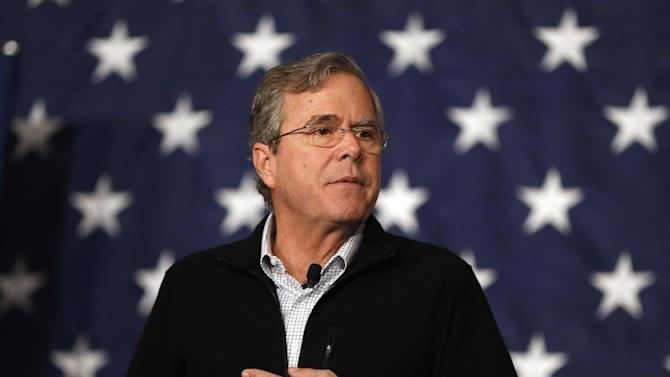 Republican presidential candidate, former Florida Gov. Jeb Bush speaks during a campaign stop, Saturday, Feb. 13, 2016, in Fountain Inn, S.C. (AP Photo/Paul Sancya)