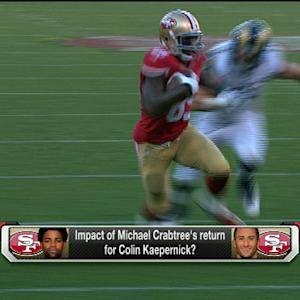 Impact of San Francisco 49ers wide receiver Michael Crabtree's return