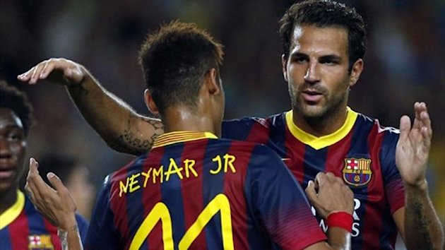 Neymar and Cesc (Reuters)