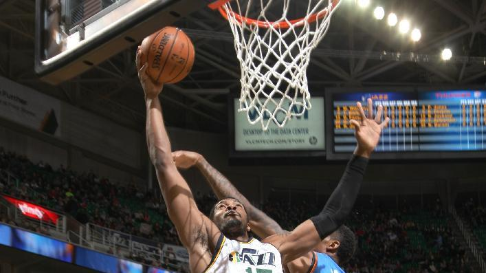Hayward's 37 lift Jazz past Thunder 112-101