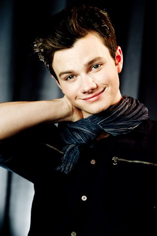 "FILE - In this April 21, 2012 file photo, actor Chris Colfer poses for a portrait in New York. Colfer stars in the Fox series, ""Glee."" (AP Photo/Charles Sykes, file)"