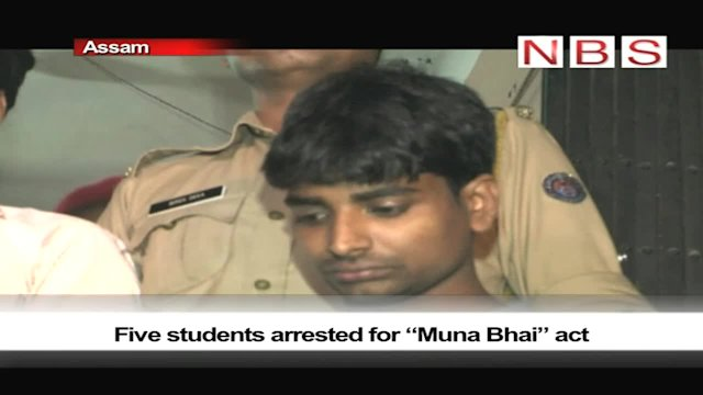 "Five students arrested for ""Muna Bhai"" act"