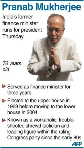 Graphic profile of India's former finance minister Pranab Mukherjee