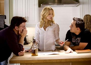 Director Anthony Russo , Kate Hudson and director Joe Russo on the set of Universal Pictures' You, Me and Dupree
