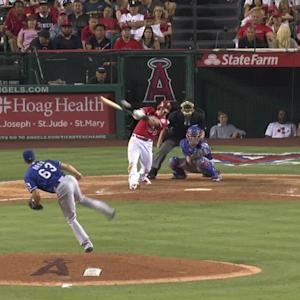 Andrus throws glove at ball