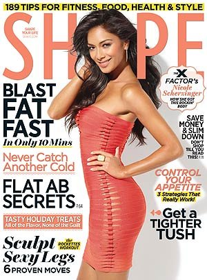 Nicole Scherzinger on the cover of Shape