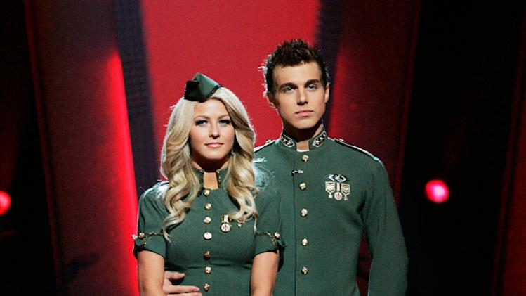 Julianne Hough and Cody Linley are the tenth couple to be eliminated from Dancing with the Stars.