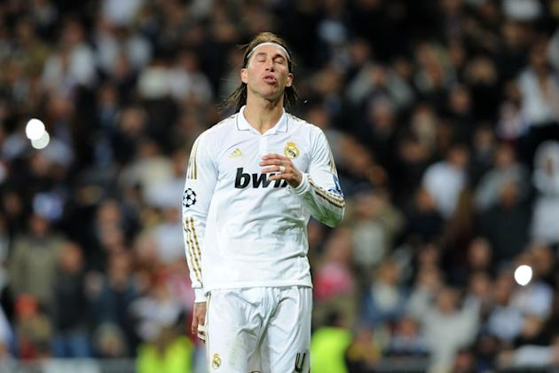 Real Madrid's Defender Sergio Ramos Reacts AFP/Getty Images