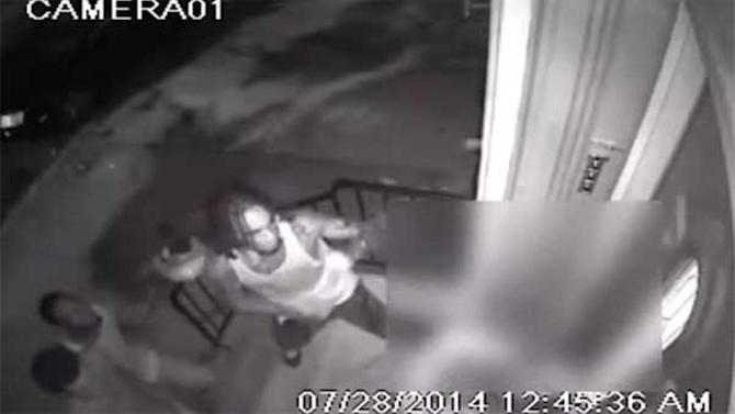 Video shows woman attacked on doorstep in North Philadelphia