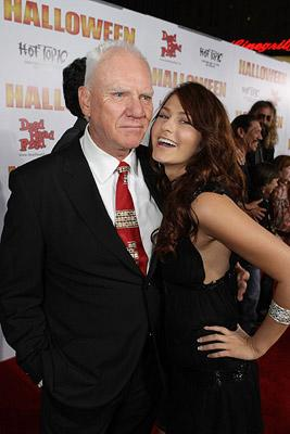 Malcolm McDowell and Scout Taylor-Compton at the Hollywood premiere of MGM/Dimension Films' Halloween