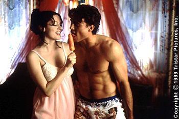 Rose McGowan and Ethan Erickson in Tristar's Jawbreaker