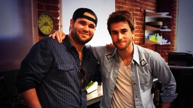 The Swon Brothers take a break from recording at NBC's 'The Voice' recording studio, Los Angeles, June 7, 2013  -- Access Hollywood