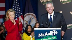 ap clinton mcauliffe endorse kb 131019 16x9 608 Hillary Clinton Dives Back Into Politics, Endorses Terry McAuliffe for Va. Governor