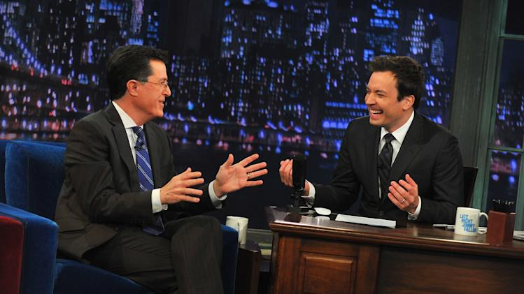 "Stephen Colbert Visits ""Late Night With Jimmy Fallon"""