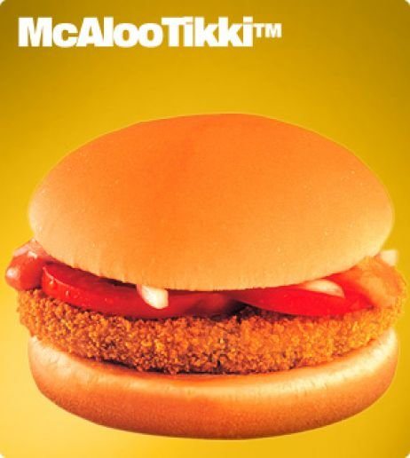 This undated image provided by McDonald's Corp. shows an item available in it's soon to open vegetarian-only restaurants in India. The company already offers menu items that cater to local tastes, suc