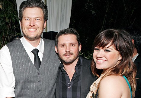 Blake Shelton Takes Credit for Kelly Clarkson&#39;s Engagement to Brandon Blackstock