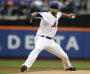 Santana finally gets win, Mets beat Arizona 4-3