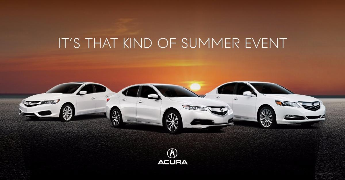 The Acura Summer Event Starts Now