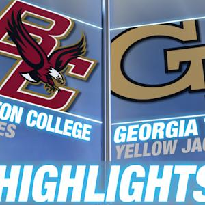 Boston College vs Georgia Tech | 2014-15 ACC Men's Basketball Highlights