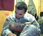 Staff Sgt. Jesse Knott and his cat Koshka