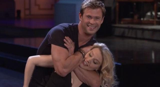Chris Hemsworth Fails at 'Dirty Dancing' Lift in New 'SNL' Promos