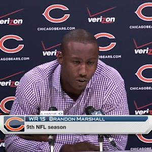 Chicago Bears wide receiver Brandon Marshall: 'I gained so much respect for Goodell'