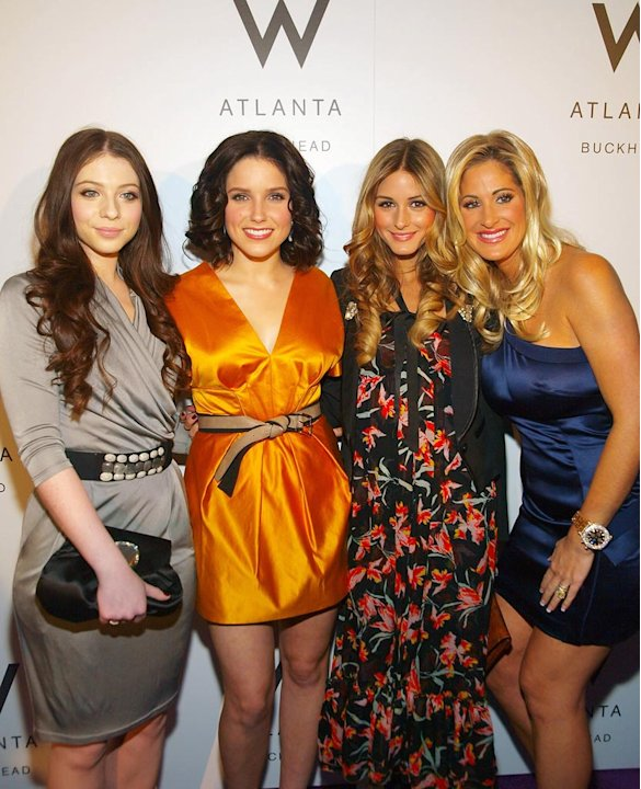 (L-R) Michelle Trachtenberg, Sophia Bush, Olivia Palermo and Kim Zolciak attend the grand opening of the W Atlanta Buckhead Hotel on January 22, 2009 in Atlanta.