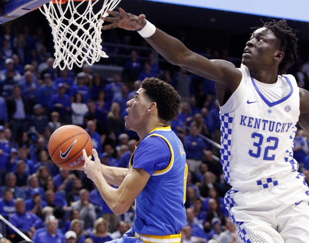 Fast-paced, freewheeling UCLA topples No. 1 Kentucky in Lexington