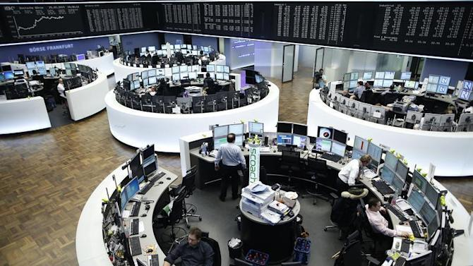 A general view with the German share price index DAX board of the German stock exchange in Frankfurt