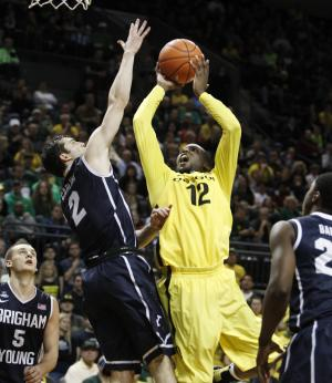 Calliste scores 31, No. 13 Oregon beats BYU in OT