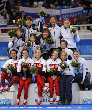 South Korea wins women's Olympic 3,000