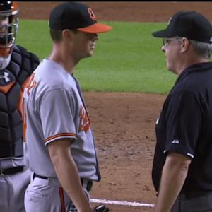 Matusz exits, foreign substance
