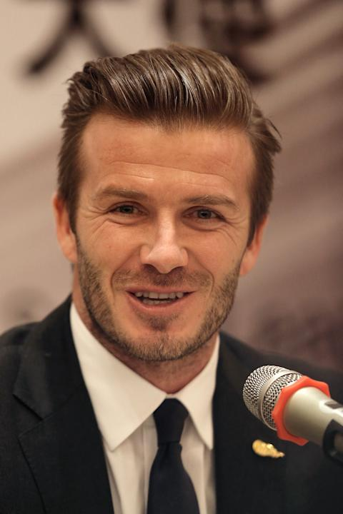 David Beckham Meets The Media In Qingdao