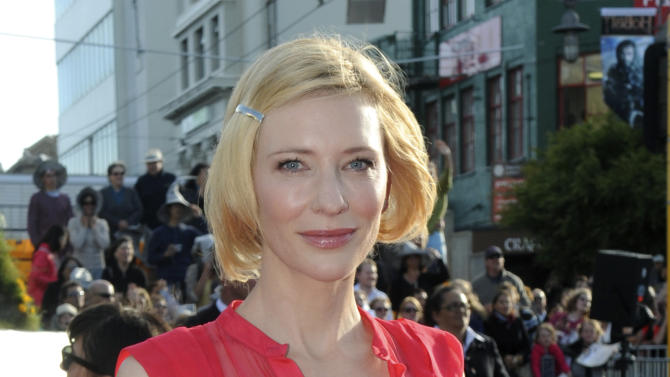 """Cast member Cate Blanchett poses on the red carpet at the premiere of """"The Hobbit: An Unexpected Journey,""""  at the Embassy Theatre, in Wellington, New Zealand, Wednesday, Nov. 28, 2012.  (AP Photo/SNPA, Ross Setford) NEW ZEALAND OUT"""