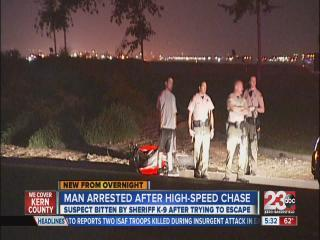 Man arrested after high speed chase