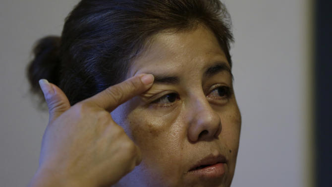 Alma Fuentes, a legal immigrant, talks about a recent stroke and her health care issues, Thursday, Sept. 6, 2012, in Los Fresnos, Texas.  (AP Photo/Eric Gay)