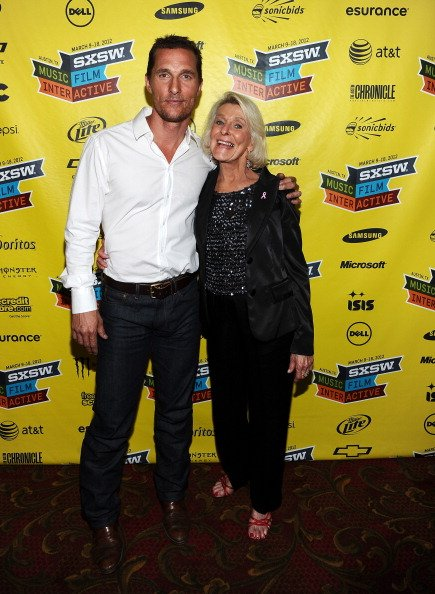 AUSTIN, TX - MARCH 14: Actor Matthew McConaughey (L) and mother Kay McConaughey attend the world premiere of 'Bernie' during the 2012 SXSW Music, Film   Interactive Festival at Paramount Theatre on Ma